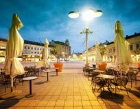 Main square in Osijek Croatia Royalty Free Stock Photos