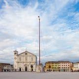 Main square of Palmanova, Italy. Royalty Free Stock Photography