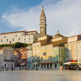 Main square of Piran Royalty Free Stock Photo