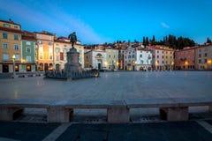 Main square of Piran town Royalty Free Stock Photo