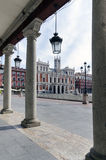 Main Square. The Plaza Mayor and the city hall of Valladolid, Spain Stock Photos