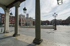 Main Square. The Plaza Mayor and the city hall of Valladolid, Spain Royalty Free Stock Photo