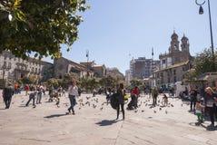 Main square of Pontevedra, Galicia Stock Photography