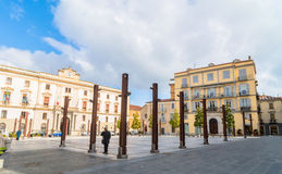 Main square in Potenza, Italy. POTENZA, ITALY - MARCH 13, 2015: day view of Mario Pagano square with local people in Potenza, Italy. Potenza is the highest Royalty Free Stock Images
