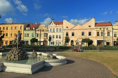 Main square in Presov Royalty Free Stock Images