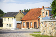 Main square of reconstructed old lithuanian city, The Open-Air Museum of Lithuania, Rumsiskes, Royalty Free Stock Images