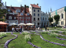 Main square in Riga (Latvia) Stock Photo