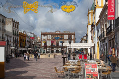 On the main square in Ronda, Spain Royalty Free Stock Photo