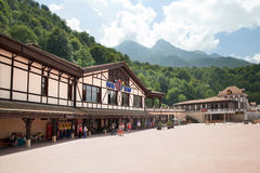 The main square of Rosa Khutor Royalty Free Stock Photo
