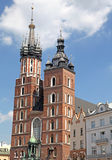 Main square (Rynok Glowny) in Cracow, Poland royalty free stock image
