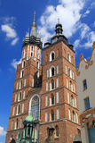 Main square (Rynok Glowny) in Cracow, Poland royalty free stock images