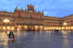 Salamanca at sunset Royalty Free Stock Photos