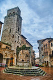 Main square of San Gimignano, Tuscany. Main square of the small but pitoresque medieval town San Gimignano in Tuscany, Italy Stock Photography
