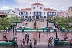Main square in Santiago de Cuba stock images
