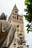 The main square in Sevilla stock photography
