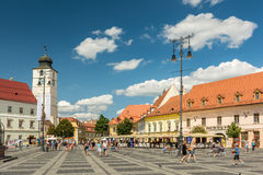 The Main Square Of Sibiu Royalty Free Stock Photography