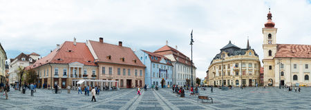 The Main Square in Sibiu, Romania Royalty Free Stock Image