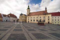 Main square in Sibiu Transylvania Romania Royalty Free Stock Images