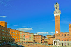 The main square of Siena. Royalty Free Stock Images