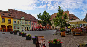 Main square of Sighisoara Royalty Free Stock Photos