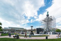 Main square in Stuttgart (Germany) city center Royalty Free Stock Photography