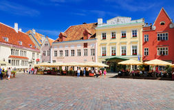 Main Square of Tallinn, Estonia Stock Photography