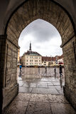 Main square of Tallinn historical centre Stock Images