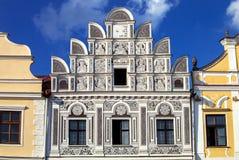 Main square in Telc, Czech Republic Unesco city Royalty Free Stock Image