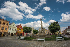 Main square in Telc, a town in Moravia with the famous 16th-century houses, Czech republic. Unes Stock Photography