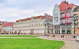 Main square of Timisoara old town, Romania Royalty Free Stock Image