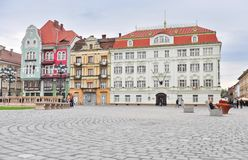 Main square of Timisoara old town, Romania Stock Photos