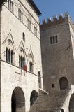 Main square of Todi Royalty Free Stock Photos