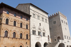 Main square of Todi Royalty Free Stock Image