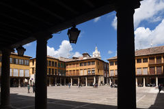 Main Square of Tordesillas, Valladolid province, Royalty Free Stock Photo