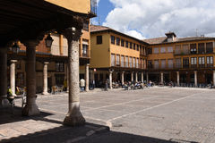 Main Square of Tordesillas, Valladolid province, Royalty Free Stock Photos