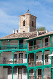 Main square, Touristic village in Madrid province, Chinchon, Spain Royalty Free Stock Photography