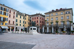 The main square of the town of Salo on the shores of Lake Garda Stock Photography