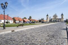 The main square of the town of Tykocin