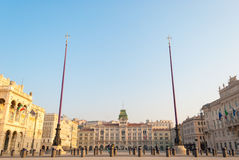 The main square of Trieste. Piazza Unità d'Italia, the main square of Trieste (northeast of Italy Stock Photo