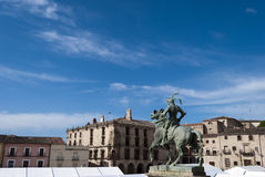 Main Square of Trujillo Royalty Free Stock Image