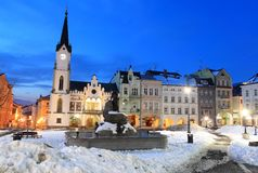 Main square in Trutnov Stock Images