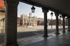 Main square of Valladolid, Spain. Capital of the Autonomous Comm Stock Photo