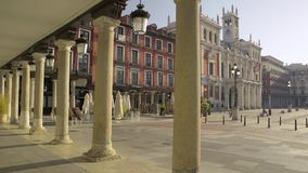 Main square of Valladolid, Spain. Capital of the Autonomous Comm stock video footage
