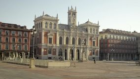 Main square of Valladolid, Spain. stock footage