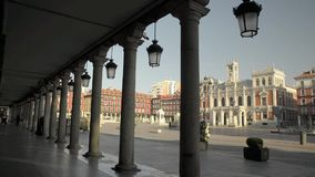 Main square of Valladolid, Spain. stock video