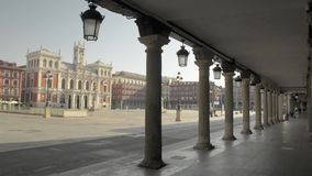 Main square of Valladolid, Spain. stock video footage