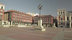 Main square of Valladolid, Spain. Capital of the Autonomous Community of Castilla y Leon. stock video footage
