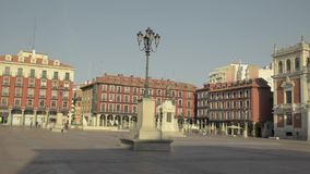 Main square of Valladolid, Spain. Capital of the Autonomous Community of Castilla y Leon. stock video