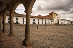 The main square of Villa de Leyva Colombia Stock Photo