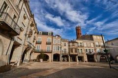Main square of Villeneuve sur lot village in France. Main square of Villeneuve sur lot village in Lot et Garonne in France Stock Photography